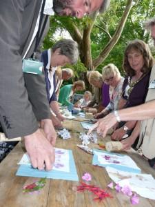 Mayor and distinguished guests enjoy getting creative copy v2